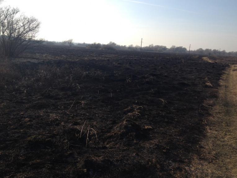 На Іваничівщині невідомі підпалили суху траву