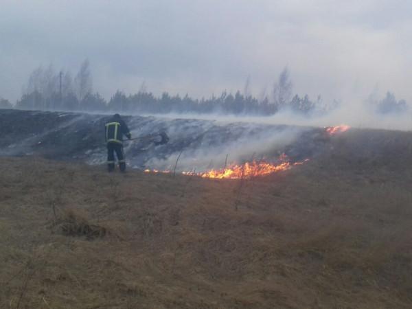 В Іваничівському районі гасили пожежі та проводили розміновуння