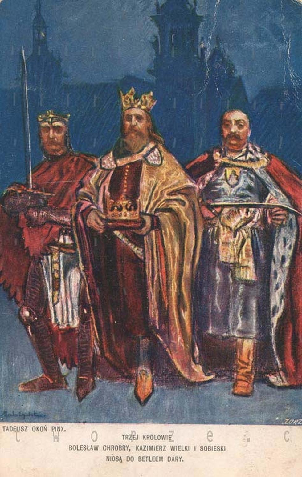 «Три королі Болеслав Хоробрий, Казимир Великий і Ян Собеський несуть до Вифлеєма дари»