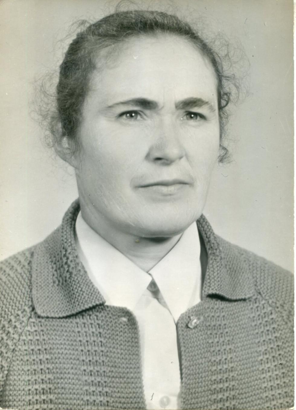 На фото. Катерина Вороняк. Кінець 1970-х рр.
