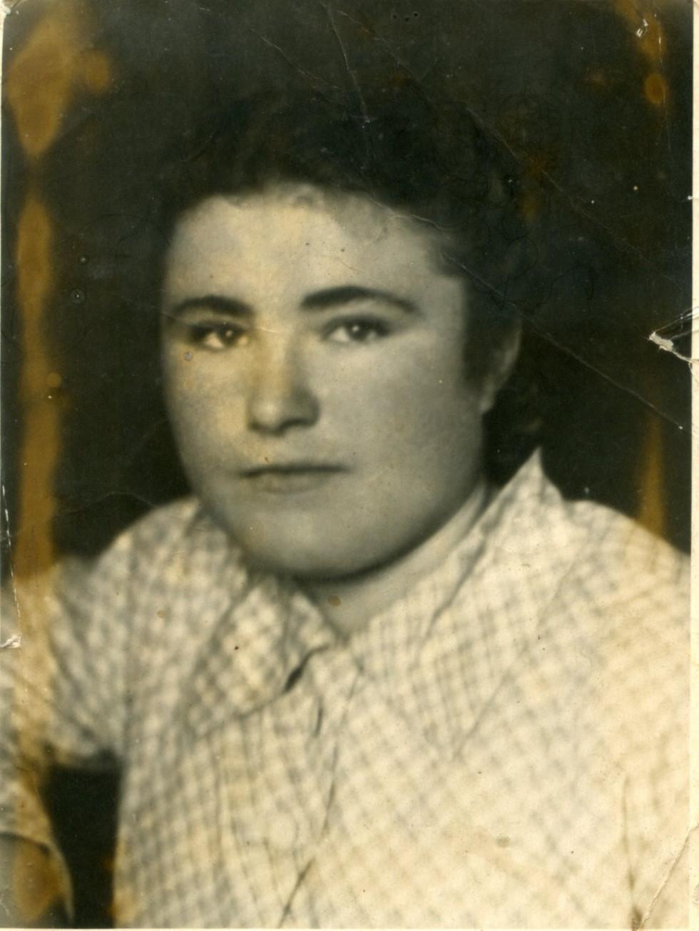 На фото: Катерина Коваленко. Кінець 1950-х рр.